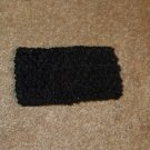 Black wide crochet headband