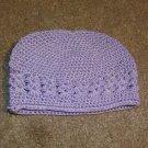 Lavender Crochet Beanie Cap--Small
