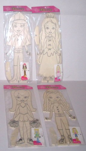 DOLLS TO PAINT WOODEN Set of 4