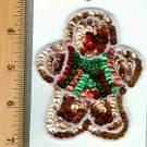 CHRISTMAS SEQUIN SEW ON GINGERBREAD MAN