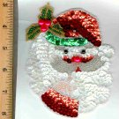 SANTA CLAUS SEQUIN SEW ON