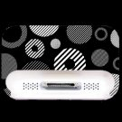 BLACK AND WHITE RETRO IPOD DOCK SKIN