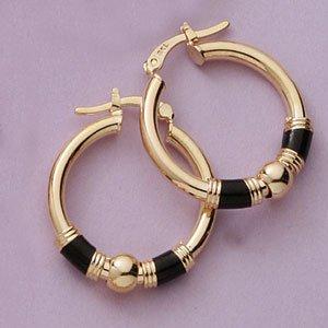 Black onyx hoops Earrings