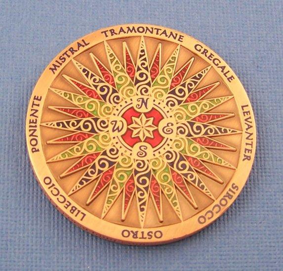 2009 Compass Rose Geocoin Copper
