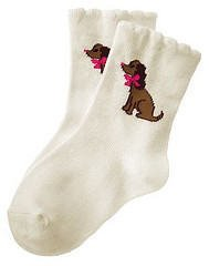 NWT GYMBOREE Lots Dots Puppy Dog Spaniel Socks 6 9 12