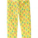 NWT GYMBOREE HAPPY RAINBOW NEW YELLOW FLOWER LEGGING 3T