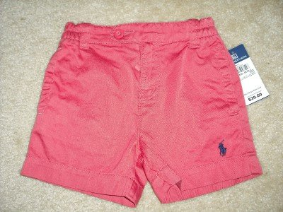 Polo RALPH LAUREN Girls Infant Shorts 18 Months NWT NEW
