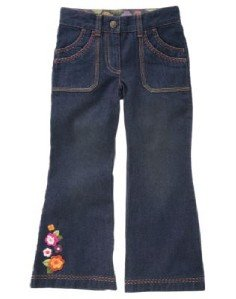 GYMBOREE FALL FOREST Flowers Leaves Jeans NWT 12 $36.50
