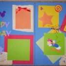 BIRTHDay Mickey DISNEY fab 5 Premade 12x12 scrapbook pg