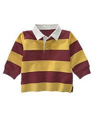 NWT GYMBOREE  TURBO CHARGED BOYS RUGBY SHIRT TOP 6 9 12