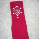 GYMBOREE WINTER SNOWFLAKE Red Knee Socks 3 4 shoe 9 10