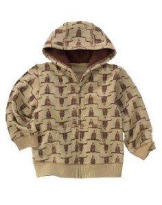 NWT GYMBOREE Cowboy Trail Hooded Jacket Fleece 3 4 3T