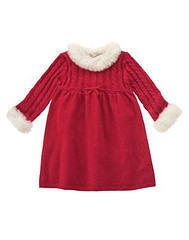 GYMBOREE WINTER SNOWFLAKE RED HOLIDAY SWEATER DRESS 5T