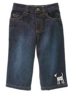 NWT GYMBOREEHoliday DALMATIAN Denim Jeans Pants 6 9 12