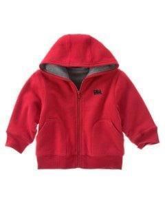GYMBOREENWT Holiday TRAIN Red Hoodie Jacket 6 9 12 BOY