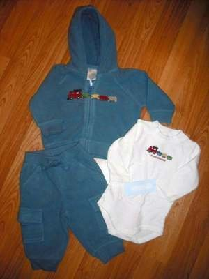 GYMBOREE LITTLE CONDUCTOR SET PANT JACKET SHIRT 6 9 12