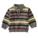 NWT GYMBOREE TURBO CHARGED BOYS ZIP SWEATER STRIPE 2 2T