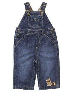 NWT GYMBOREE Forest RACCOON Denim Jean Overalls 3 6 NEW