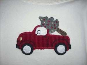 NWT GYMBOREE WINTER SNOWMAN Red Truck Onesie Shirt 6 12