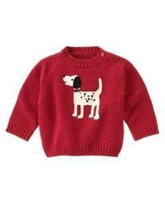 NWT GYMBOREEHoliday DALMATIAN Boys Red Sweater 6 9 12