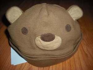 NWT GYMBOREE  SUMMER PICNIC BEAR Beanie Hat Cap 0 3 NEW
