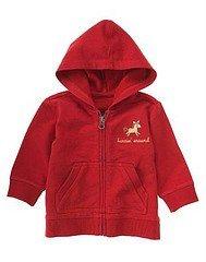 NWT GYMBOREE PONY Ranch Horse Red Zip Jacket Hood 12 18