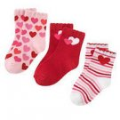 GYMBOREE FULL OF HEAR 3 PAIR GIRL SOCK 4T 5T Shoe 10 11