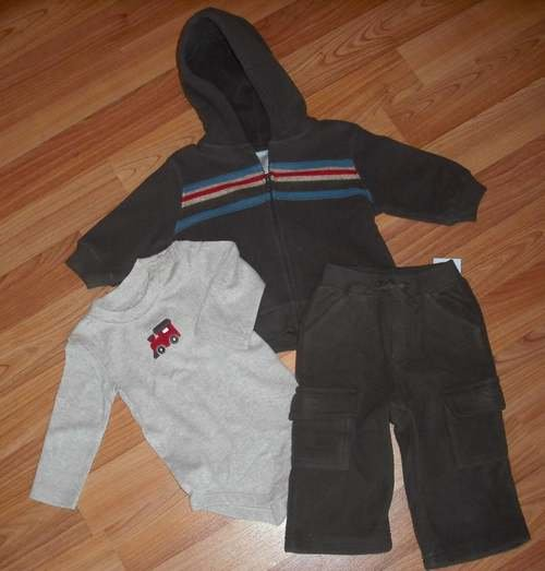 GYMBOREE LITTLE CONDUCTOR 3 PC JACKET PANT SHIRT 6 9 12