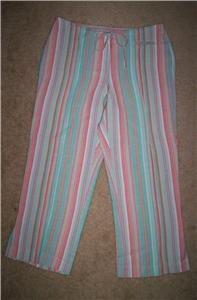 J.H Collectibles Gorgeous Capris Cropped Pants NWOT 6 8