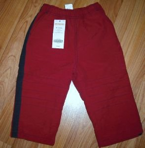 NWT GYMBOREE Boys Red Fleece lined Active Pants 18 24 M