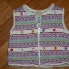 Gymboree WINTER SPARKLE REVERSe Sweater Vest12 18 Mos