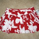 "NEW ROXY ALICIA Skirt Red White Size 13 37"" Waist NWT"