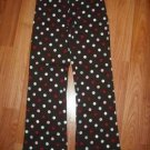 NWT GYMBOREE WINTER SNOWFLAKE  FLARE KNIT PANTS DOTS 10