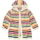 NWT GYMBOREE Lots OF Dots STRIPE Long Sweater Jacket 12