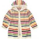 NWT GYMBOREE Lots OF Dots STRIPE Long Sweater Jacket 12