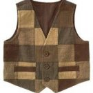 NWT GYMBOREE HOLIDAY PICTURES BOYS Brown Patch Vest 10