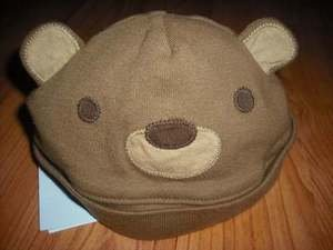 NWT GYMBOREE  SUMMER PICNIC BEAR Beanie Hat Cap 3 6 NEW