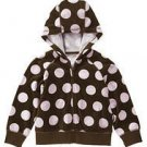 NWT GYMBOREE SWEETER THAN CHOCOLATE Velour Dot Jacket 3
