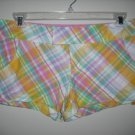ROXY ~ MARYANNE ~ Short Shorts Plaid Seersucker 7 NWT
