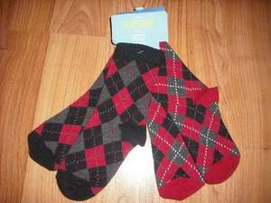 NWT GYMBOREE HOLIDAY PICTURE BOY 2 PR 12 24 ARGYLE SOCK