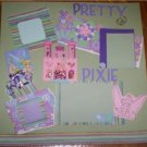 Tinker Bell Tinkerbell Premade 12x12 scrapbook page