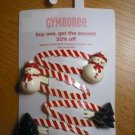 GYMBOREE WINTER SNOWFLAKE SNOWMAN TREE 4 Pk Hair Clips