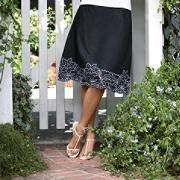 New SAG HARBOR White Black Elastic Waist Skirt Sm Med