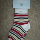 NWT GYMBOREE LITTLE FIREMAN Boys Socks Stripe 6 9 12 Mo