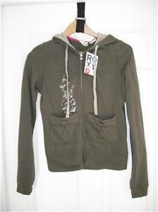 ROXY Hoodie Sweatshirt Jacket Shirt HEART LOGO S NWT