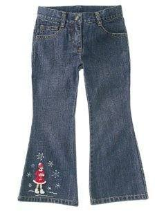 NWT GYMBOREE Winter Snowflake SKATER Denim Jeans 12 NEW