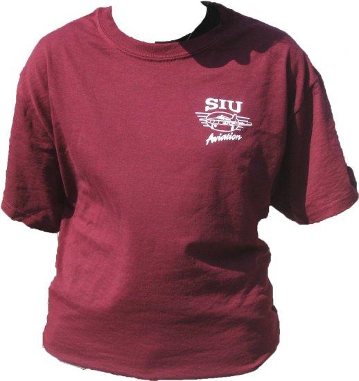 SIUC Maroon Aviation T-shirt