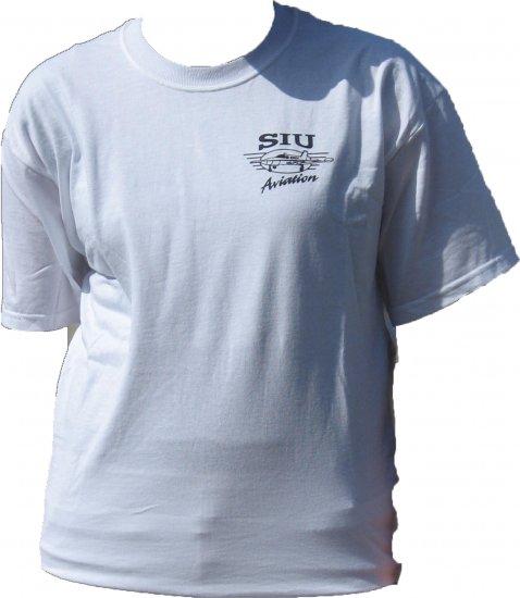 SIUC White Aviation T-shirt