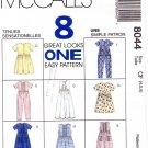 McCall's 8044 Children's/Girls Dress, Jumpsuit and Romper Uncut