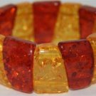 Genuine Amber Stretch Bracelet a38